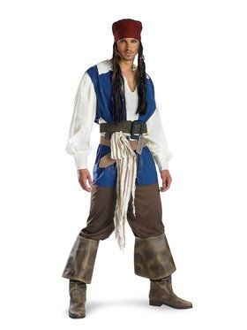 Captain Jack Sparrow Quality Adult Costume