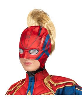 Adult Captain Marvel Headpiece with Mohawk