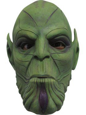 Adult Captain Marvel Nuro Skrulls Full Overhead Latex Mask