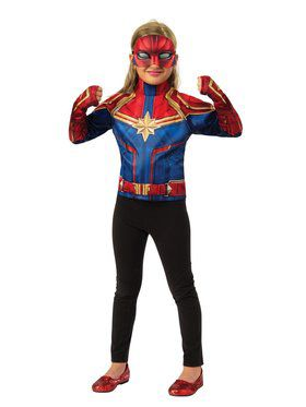 Captain Marvel Dress Up Costume Set