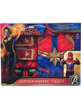 Girls Captain Marvel Costume