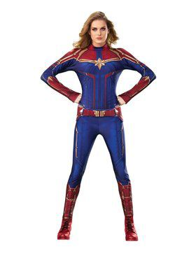 Captain Marvel Hero Suit Costume for Adults