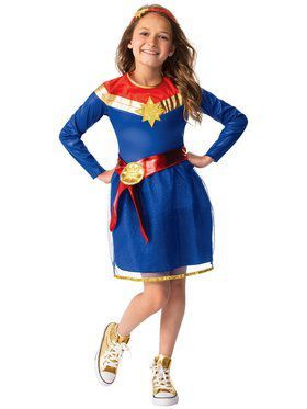 Captain Marvel Tutu Dress Costume for Kids