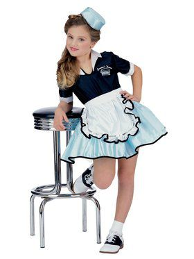 Car Hop Girl Kids Costume