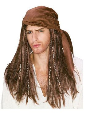 Caribbean Pirate Wig Adult