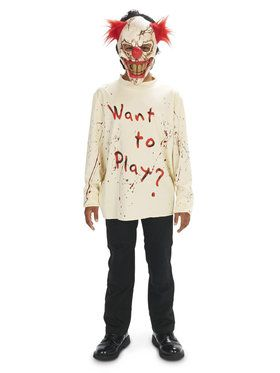 Carn-Evil Playful Clown Costume For Children