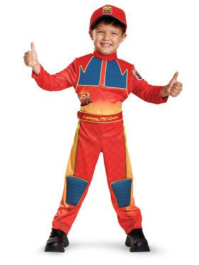 Cars 3 Deluxe Lightning Mcqueen Costume For Toddlers