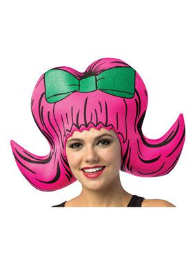 Cartoon Wig - Bouffant Pink