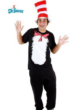 Cat in the Hat Short Sleeve Set Men's Costume