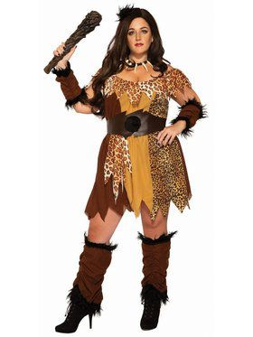 Adult Cave Woman Plus Size Costume