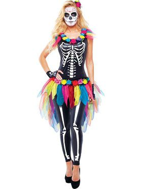 Celebrity Day of the Dead Women's Costume