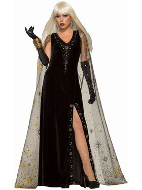 Celestial Dress With Cape Adult Costume