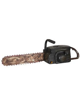 Chainsaw with Rusty Finish Animated Prop