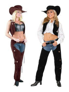 Women's Suede Chaps and Vest Set