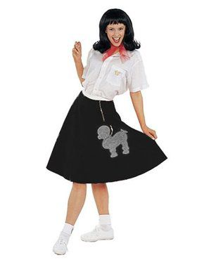 Charcoal Grey Felt Poodle Skirt Adult