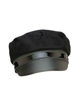 Adult's Black Chauffeur Cap