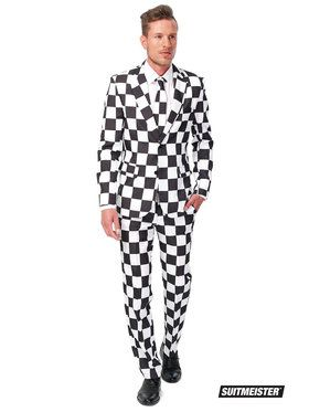 Checked Black White Adult Suitmeister Costume