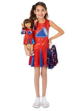 Cheer Team Child Costume with Matching Doll Costume