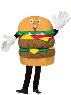 Cheeseburger Mascot Adult Costume