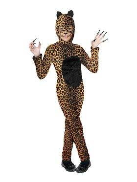Cheetah Cat Girl Child Costume