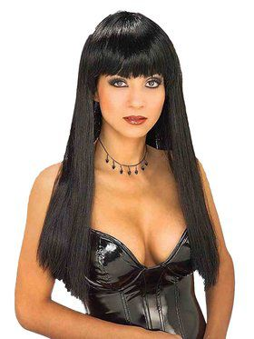 Straight Black Wig With Fringe