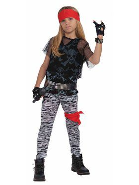 Child 80's Rock Star Boy Costume
