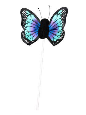 Child Blue Butterfly Wand