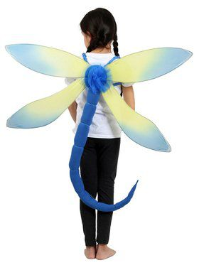 Blue Dragonfly Child Costume