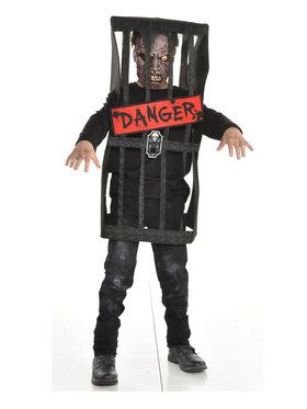 Caged Zombie Child Costume
