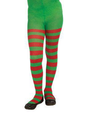 Candy Cane Striped Thigh High Christmas Elf Stockings PLUS//QUEEN SIZE