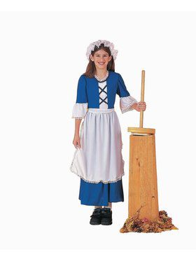 Girl Colonial Child Costume