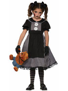 Child Dark Rag Doll Classic Costume