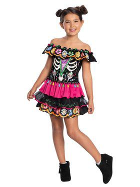 Child Day Of The Dead Child Costume