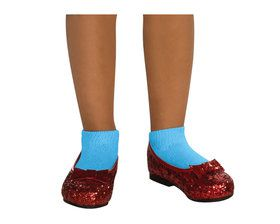 Child Deluxe Dorothy Wizard of Oz Ruby Red Glitter Shoes