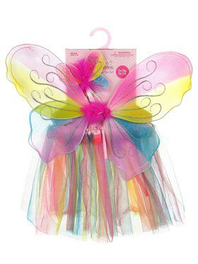 Child Dress Up Rainbow Wing & Skirt Set
