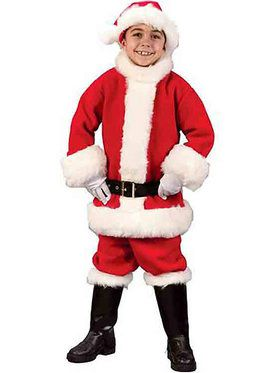 Flannel Santa Suit For Children
