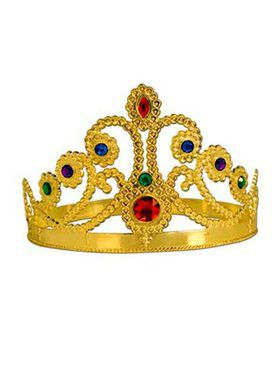Child Gold Plastic Jeweled Tiara