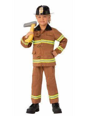 Childrens Brave Junior Fireman Costume