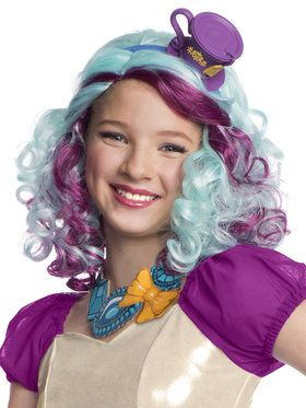 Child Madeline Hatter Wig with Headpiece