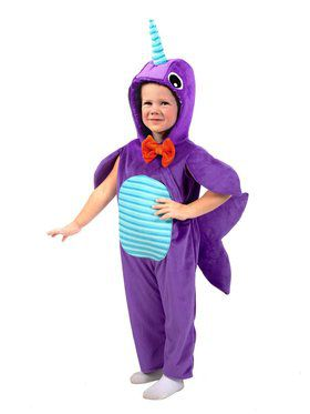 Minky Narhwal Child Costume