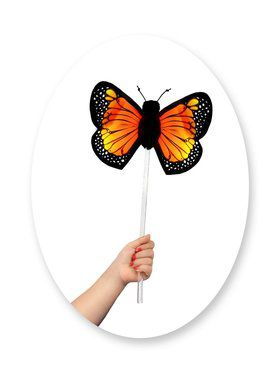 Monarch Butterfly Child Wand