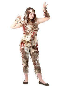 Teen's Mystifying Mummy Costume