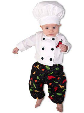 Chef Newborn Child Costume