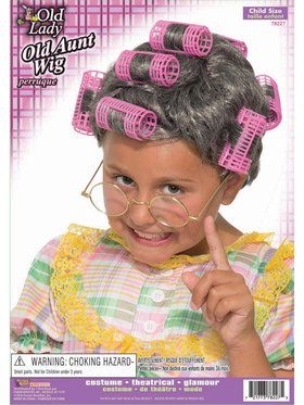 Child Old Aunt Wig Accessory