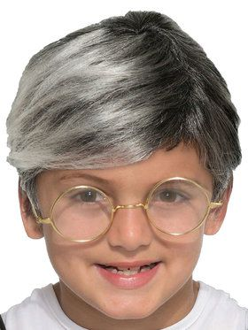 Child Old Man Wig Accessory