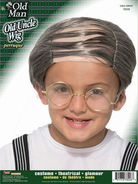 Child Old Uncle Wig Accessory