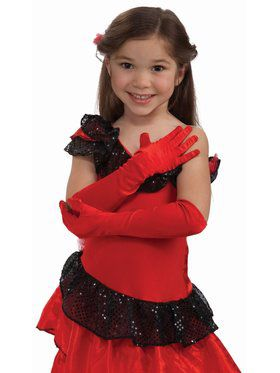 Child Opera Satin Accessory Gloves