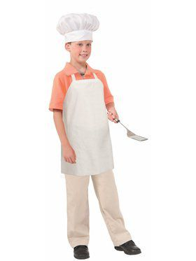 Kid's Paper Chef Apron and Hat Set