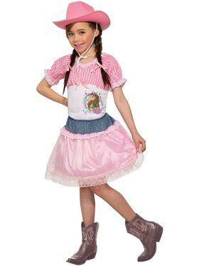 Pink Cowgirl Child Costume