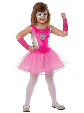 Pink Girl's SpiderGirl Costume
